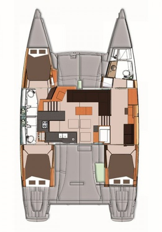 Fountaine Pajot Helia 44 entre particulares y profesional Marmaris Yacht Marina A.Ş