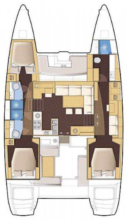 Alquiler Catamarán en Marmaris Yacht Marina A.Ş - Lagoon Lagoon 450