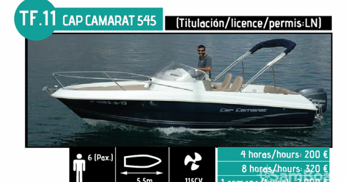 Location bateau Jeanneau CAP CAMARAT à l'Ampolla sur Samboat