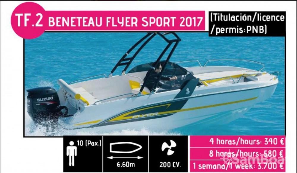 Rental Motor boat in l'Ametlla de Mar - Bénéteau Flyer 6.6 SPORTdeck