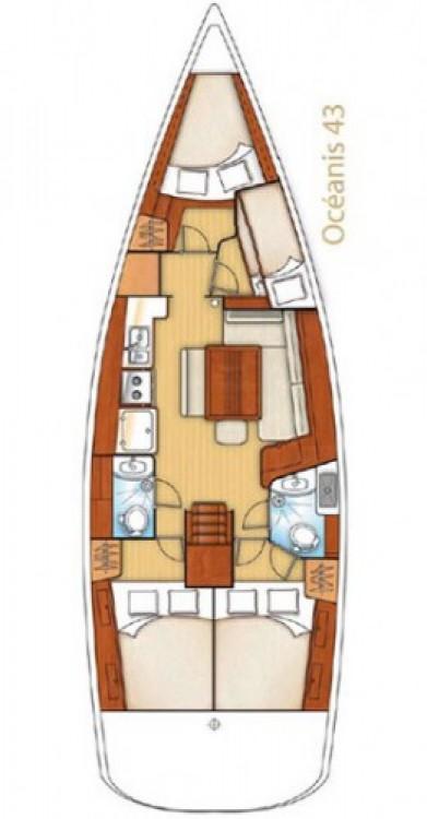 Alquiler de barcos Nápoles barato de Oceanis 43