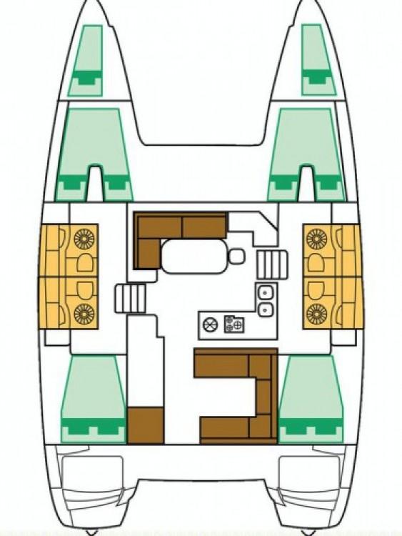 Alquiler de barcos Sukošan barato de Lagoon 400 S2