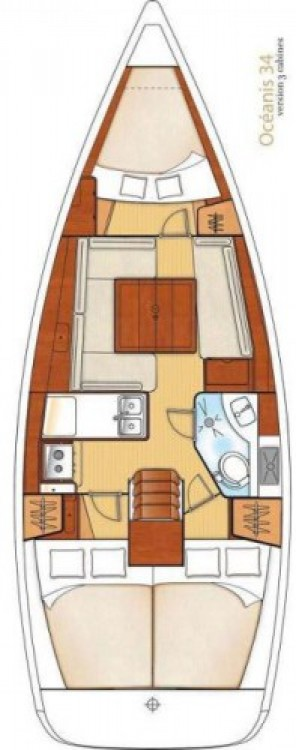 Location bateau Bénéteau Oceanis 34 à Marina Šangulin sur Samboat