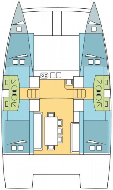 Bootsverleih Lefkada günstig Bali 4.0 - 4 + 2 cab.