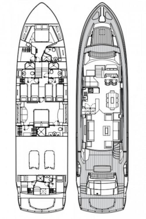Sunseeker-International Sunseeker Yacht 80 zwischen Privatpersonen und professionellem Anbieter Tribunj