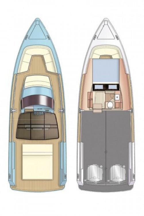Fjord-Boats Fjord 36 Open zwischen Privatpersonen und professionellem Anbieter Marina Kaštela