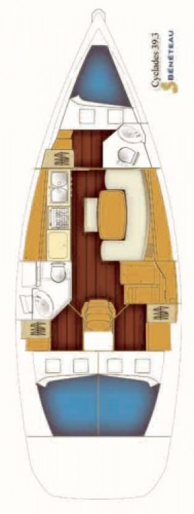 Segelboot mieten in Rogač - Bénéteau Cyclades 39.3