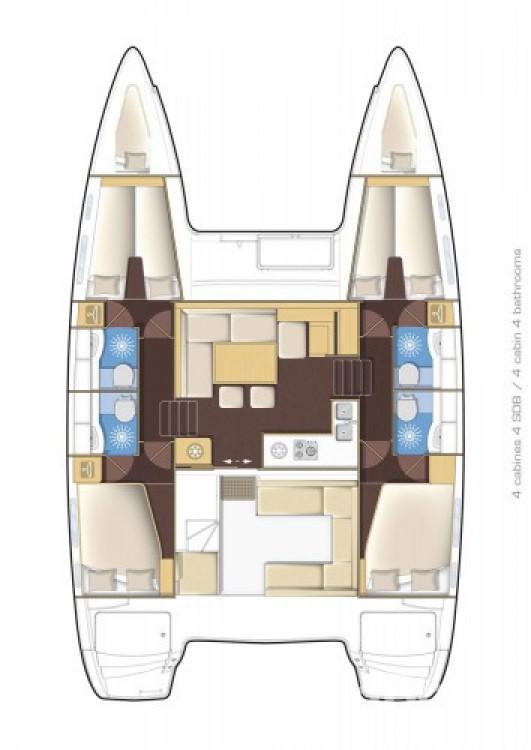 Location yacht à Grèce-Centrale - Lagoon Lagoon 400 S2 sur SamBoat