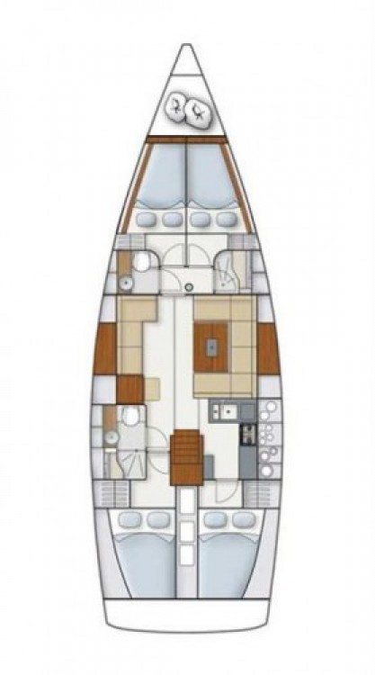 Alquiler de barcos Split barato de Hanse 445