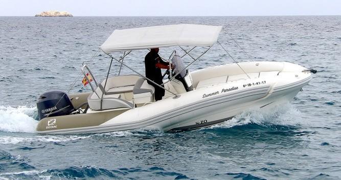 Louer Semi-rigide avec ou sans skipper Zodiac à Ibiza (Ville)