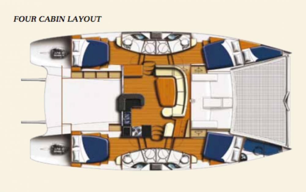 Alquiler de Catamarán, con o sin patrón Leopard Dependencias Federales