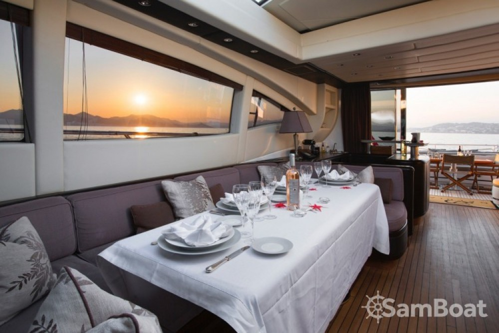 "Boat rental Mangusta 28.06 metres (92' 1"") in Cannes on Samboat"