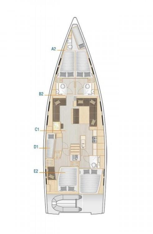 Rental yacht Marina Šangulin - Hanse Hanse 548 on SamBoat