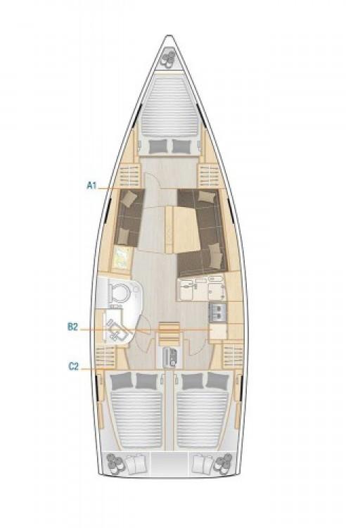 Alquiler de barcos Croacia barato de Hanse 388
