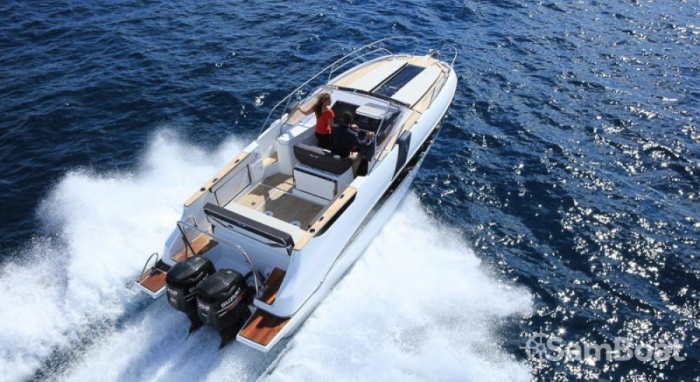 Rental Motor boat in Port Charles Ornano - Bénéteau Flyer 8.8 SUNdeck
