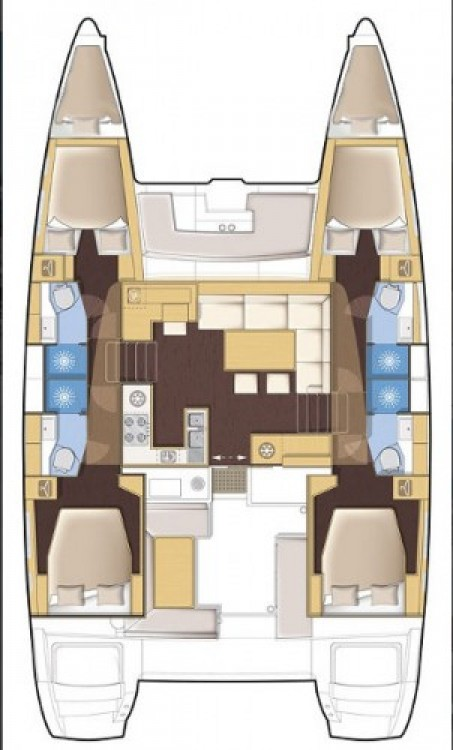 Boat rental Lávrio cheap Lagoon 450