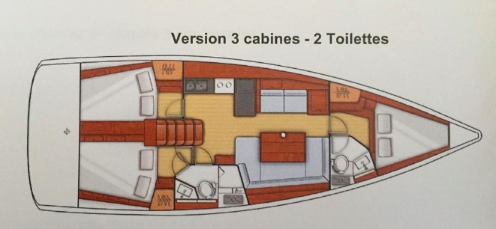 Rental yacht Saint-Mandrier-sur-Mer - Bénéteau Oceanis 41 on SamBoat