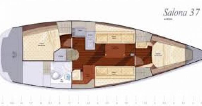 Noleggio Barca a vela Salona con un permesso di
