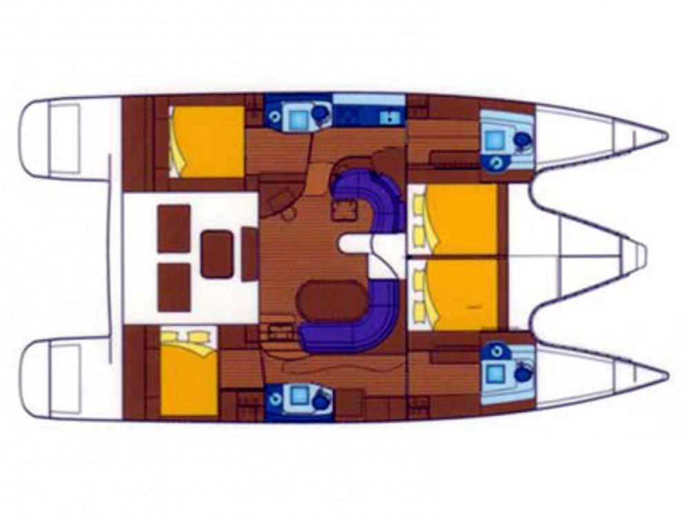 Rental Catamaran in Marina Gouvia - Alliaura Privilege 495