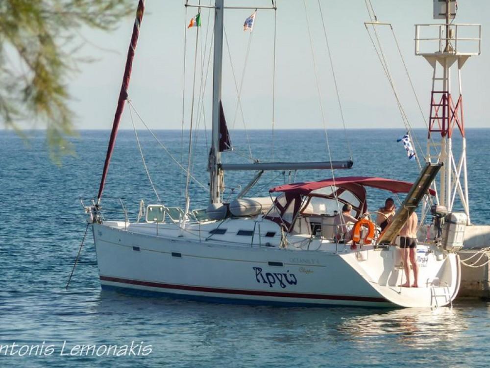 Boat rental Áno Sýros cheap Oceanis 393 Clipper