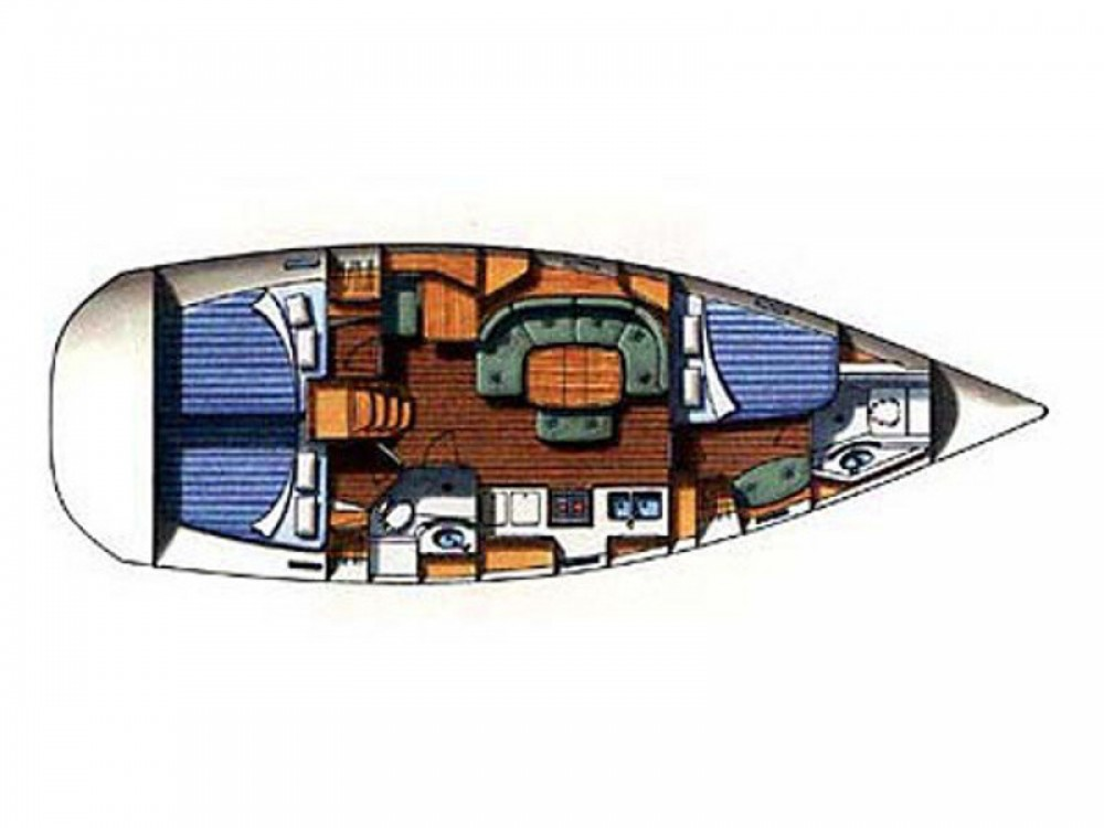Boat rental Marina Gouvia cheap Oceanis 393 Clipper