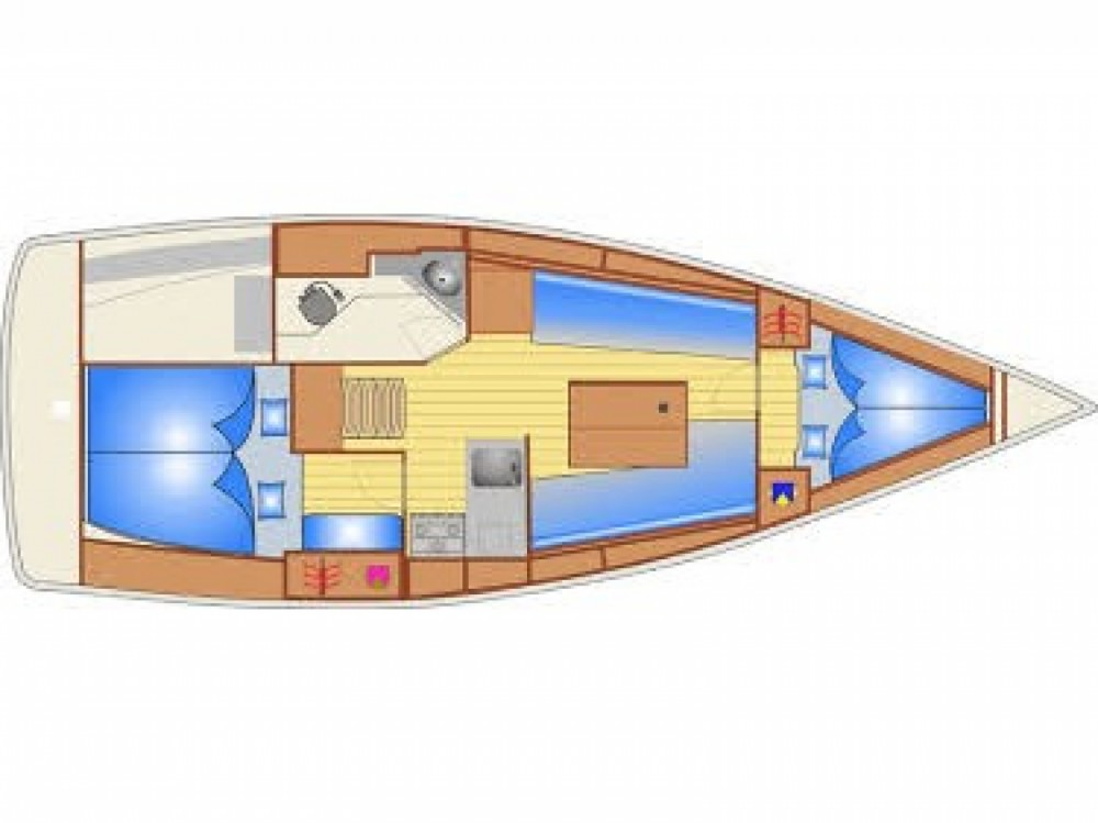 Sailboat for rent Marina Pirovac at the best price