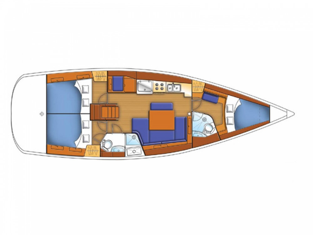 Rental Sailboat in Alimos Marina - Bénéteau Oceanis 43 / 3 cbs
