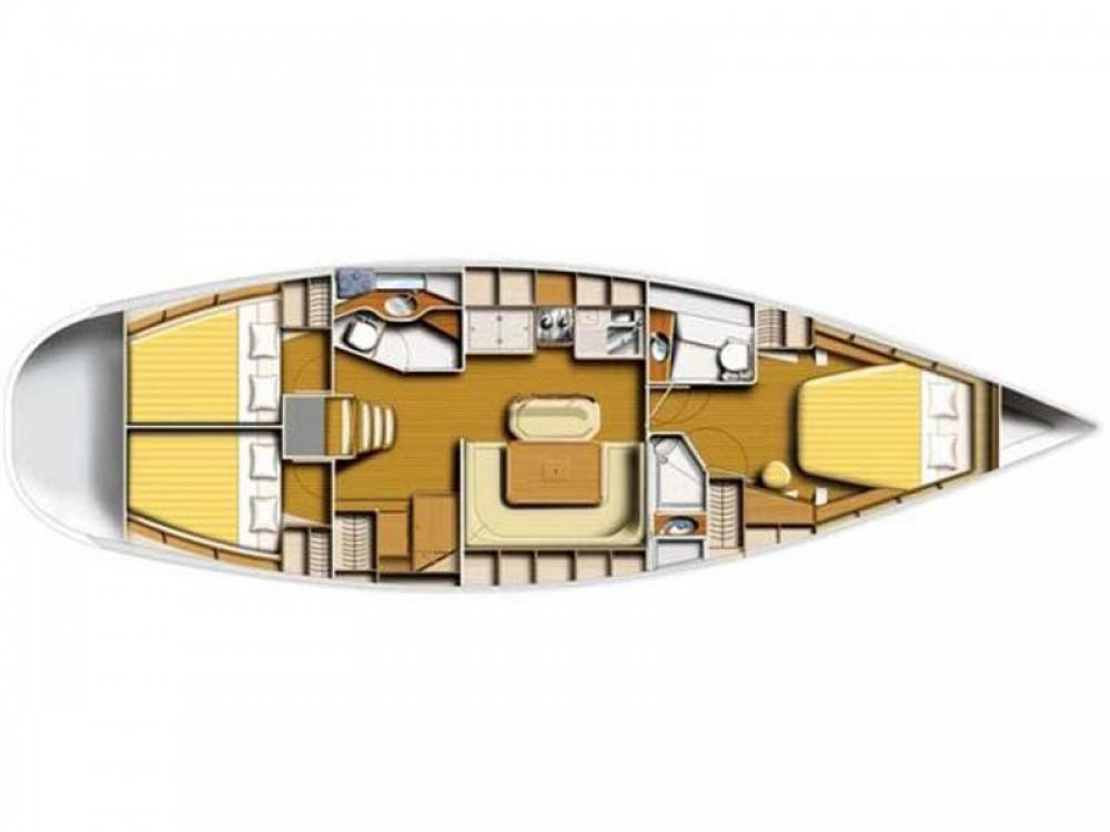 Boat rental Poncin Yachts Harmony 47 in Sukošan on Samboat