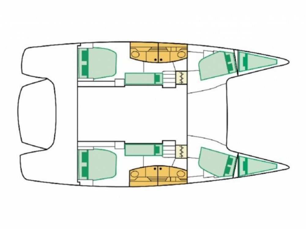 Yacht-Charter in Marina Gouvia - Fountaine Pajot Salina 48 auf SamBoat