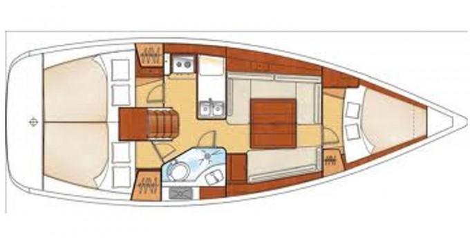 Location bateau U Pàize/Carloforte pas cher Oceanis 34