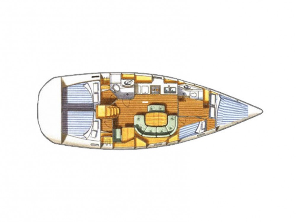 Location bateau Bénéteau Oceanis 411 à U Pàize/Carloforte sur Samboat