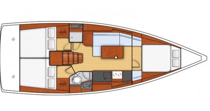 Location bateau Bénéteau Oceanis 38 à U Pàize/Carloforte sur Samboat
