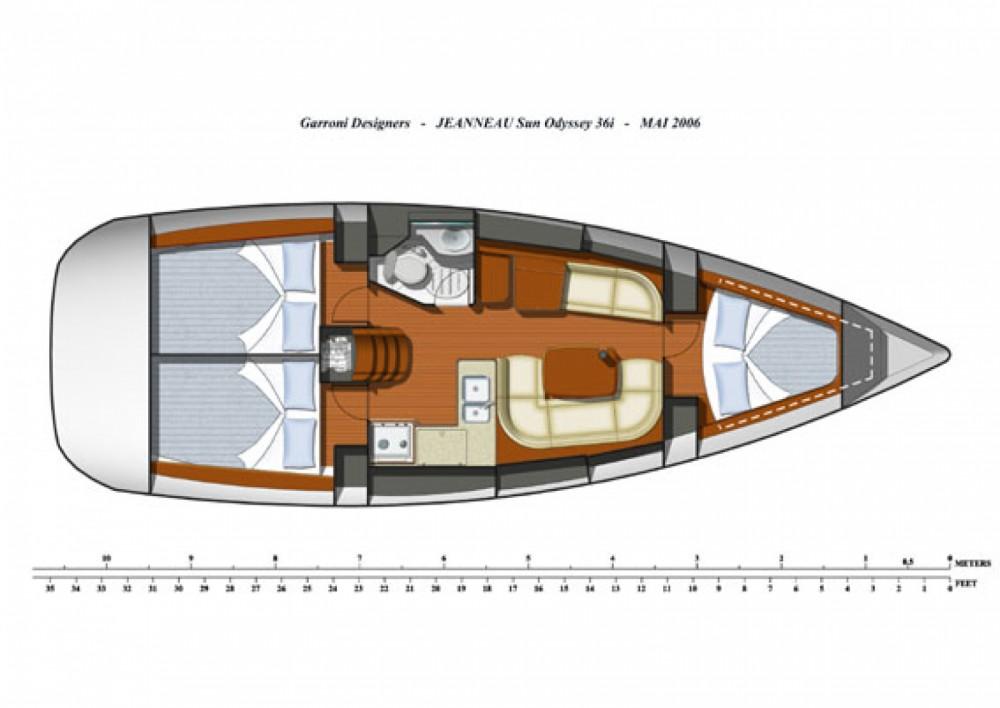 Jeanneau Sun Odyssey 36i entre particuliers et professionnel à Noord-Beveland