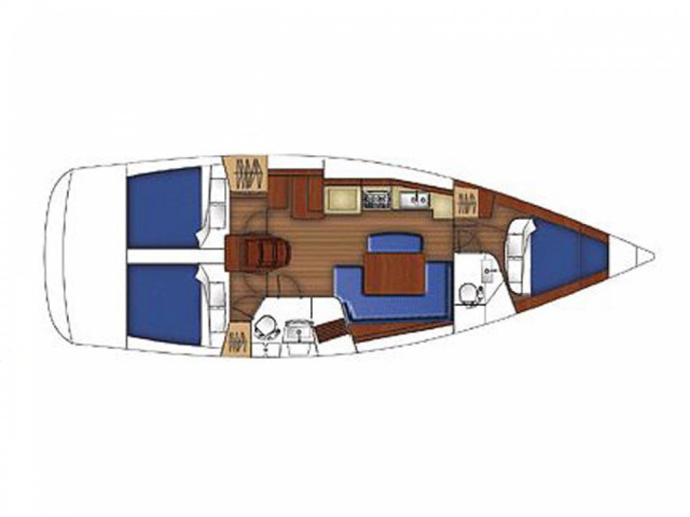 Bénéteau Oceanis 40 entre particuliers et professionnel à Marina de Alimos
