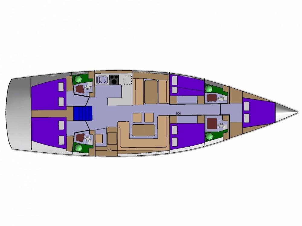 Location bateau D&d D&D Kufner 54.2 à ACI Marina Trogir sur Samboat