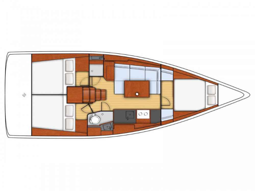 Location bateau Bénéteau Oceanis 38 à Port Olímpic sur Samboat