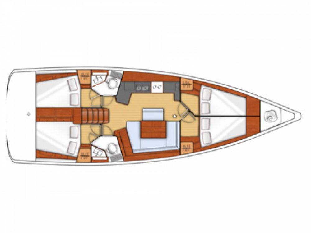 Boat rental Follonica cheap Oceanis 45