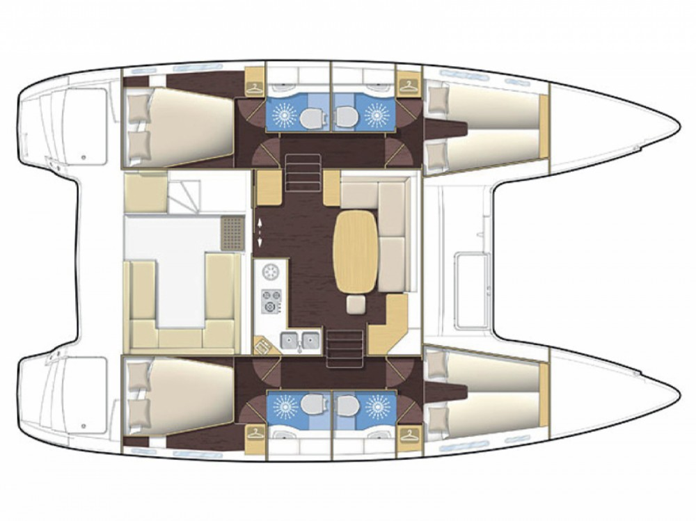 Location Catamaran à Marina di Portisco - Lagoon Lagoon 400
