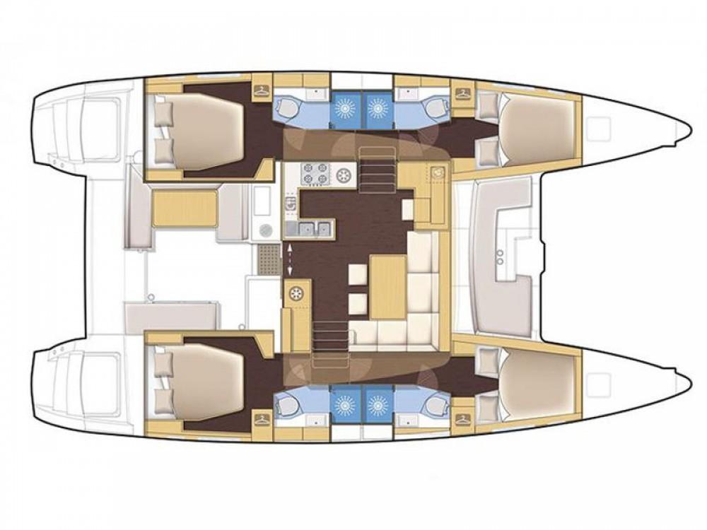 Bootsverleih Marina di Portisco günstig Lagoon 450 Flybridge