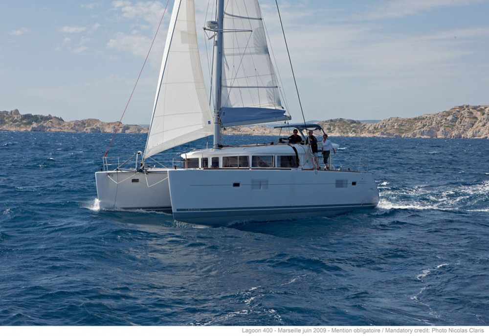 Hire Catamaran with or without skipper Lagoon Marina di Portisco