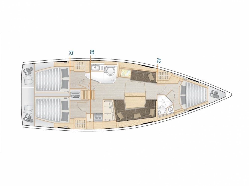 Rental yacht Sukošan - Hanse HANSE 418 BT on SamBoat