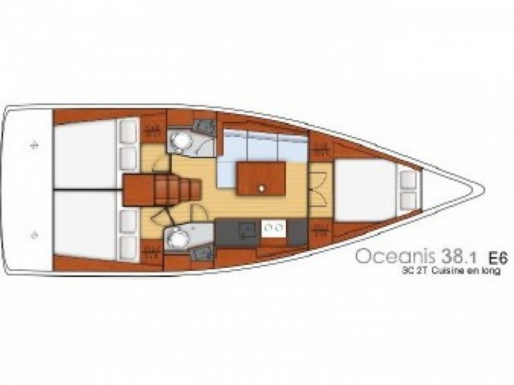 Rental Sailboat in ACI Marina Split - Bénéteau Beneteau Oceanis 38.1