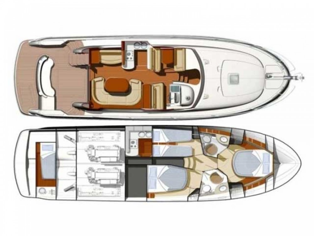 Location bateau Primošten pas cher Prestige 46