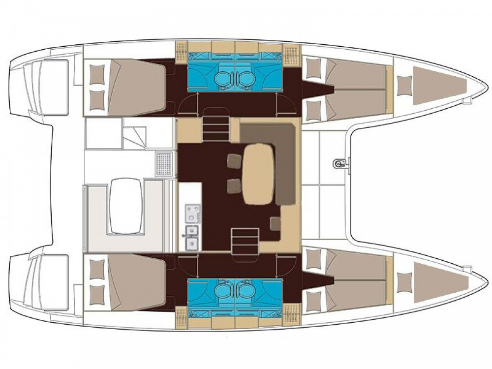 Boat rental Furnari cheap Lagoon 400 S2