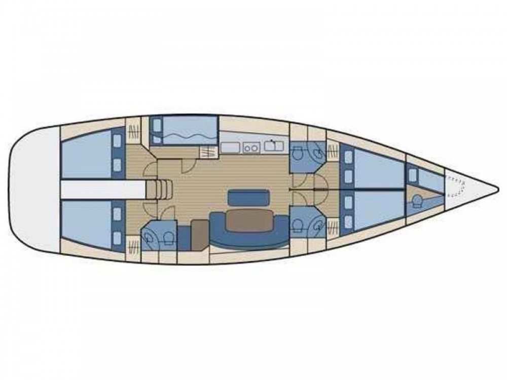Location bateau Bénéteau Cyclades 50.5 à Furnari sur Samboat