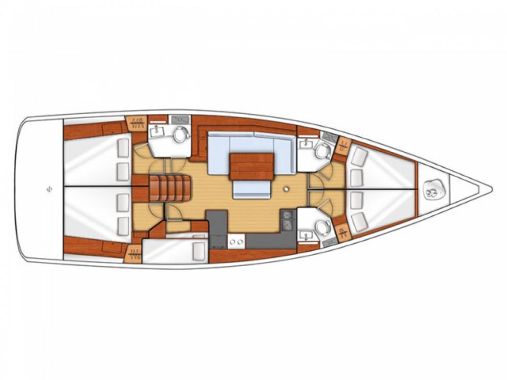 Location bateau Marina Kaštela pas cher Oceanis 48