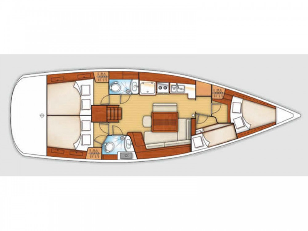 Bénéteau Oceanis 43 entre particuliers et professionnel à Puntone di Scarlino