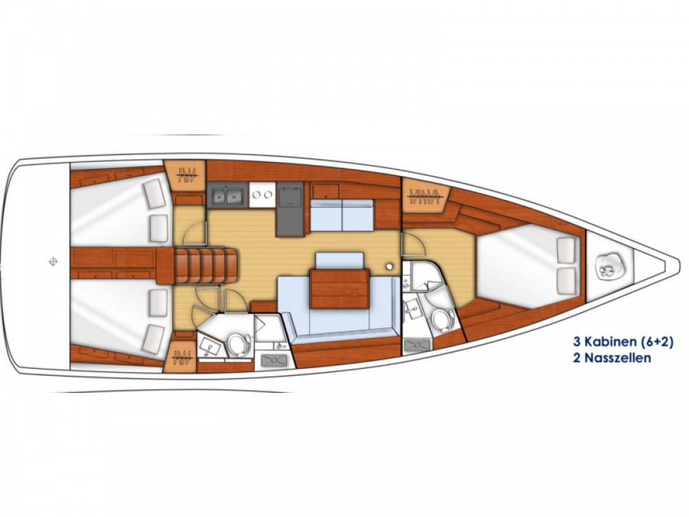 Bénéteau Oceanis 45 entre particuliers et professionnel à Marina Zadar