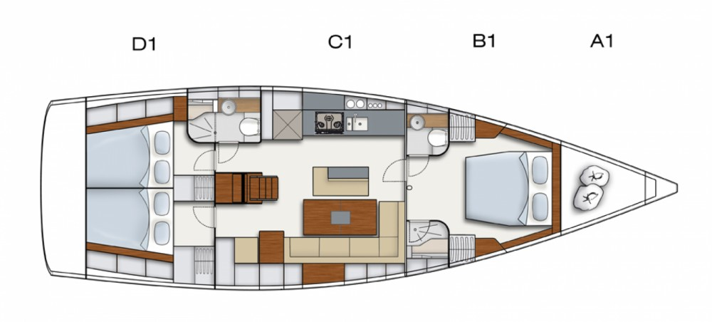 Location bateau Hanse Hanse 495 à Marmaris sur Samboat