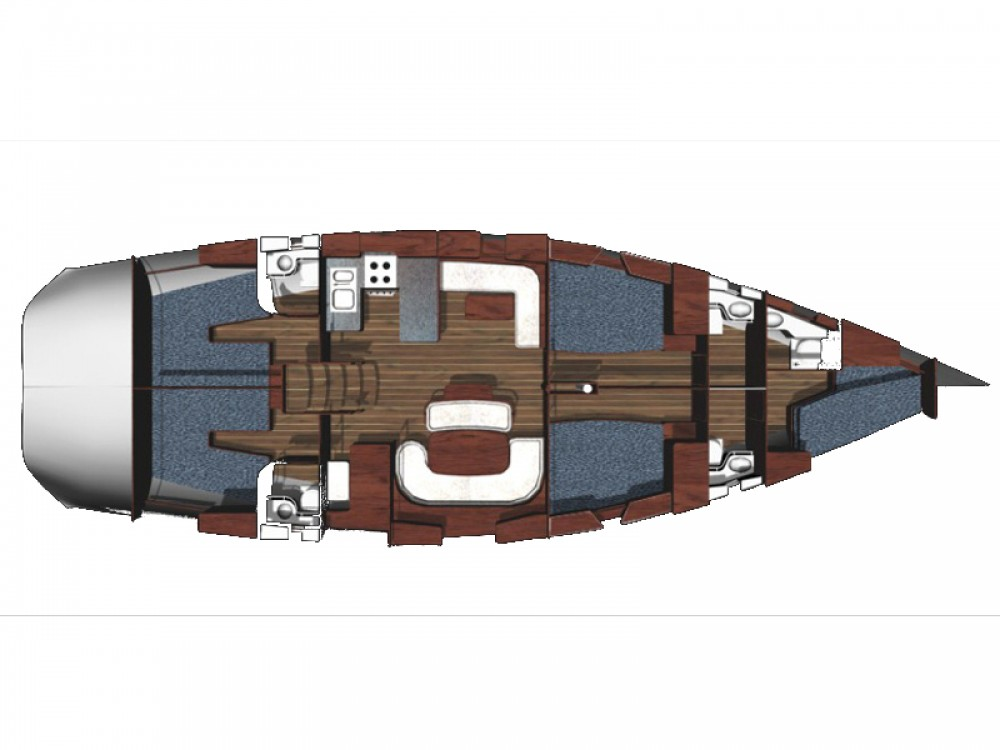 Location Voilier à Μαρίνα Αλίμου - Ocean Ribs Ocean Star 56.1 - 5 cabins